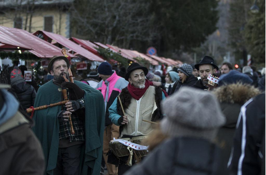 Buta Voja Zampognari ai Mercatini di Natale di Santa Maria Maggiore