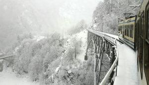 La Ferrovia Vigezzina-Centovalli in inverno - ph. Gianluca Barlacchi